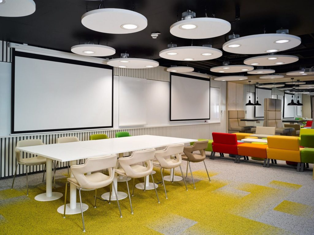 innogy table and seats interior design layout