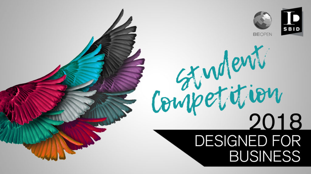 Student competition, Designed for Business, for creative industries in art, fashion, product and interior design