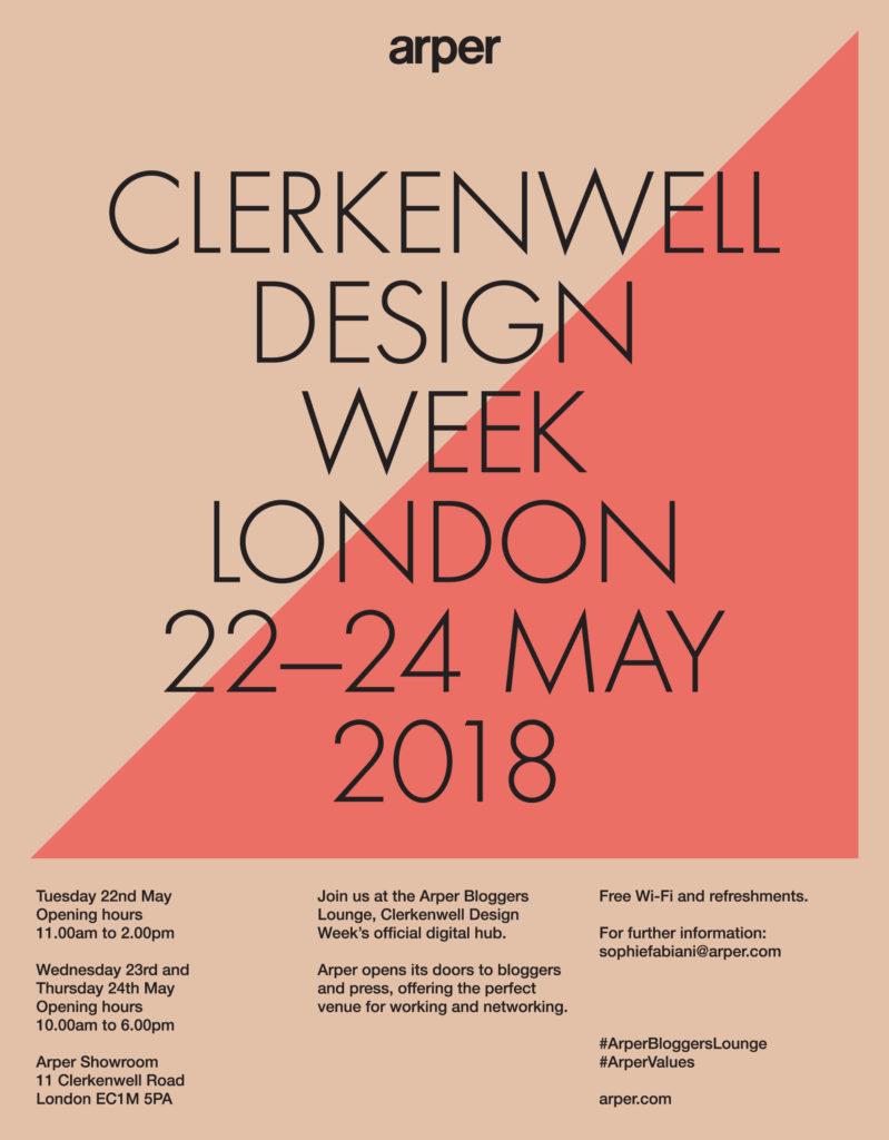 Arper Clerkenwell Design Week Blogger Lounge