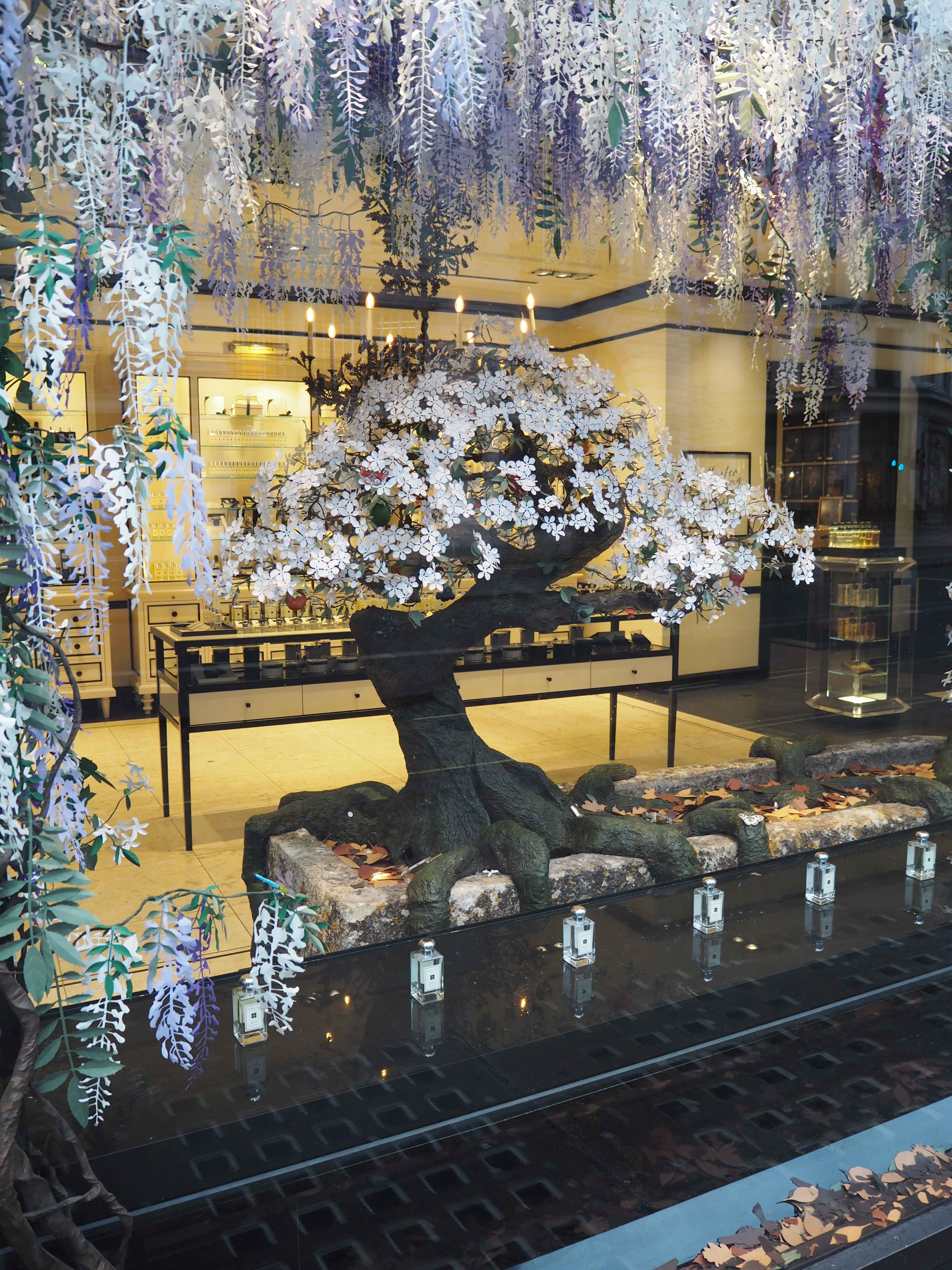 Jo Malone London interior design for visual merchandising of shop window display