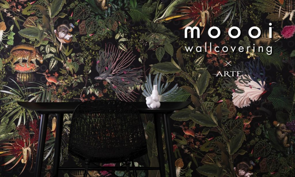 Interior design wallcovering collection by Moooi x Arte