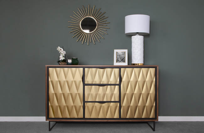 Product update for designers in the interior design industry by YTM Funriture; Care Collection Prism sideboard