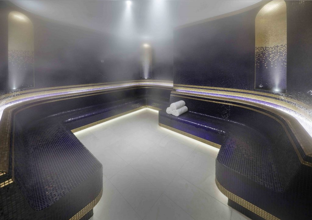 Interior design of luxury Australian spa by Blainey North