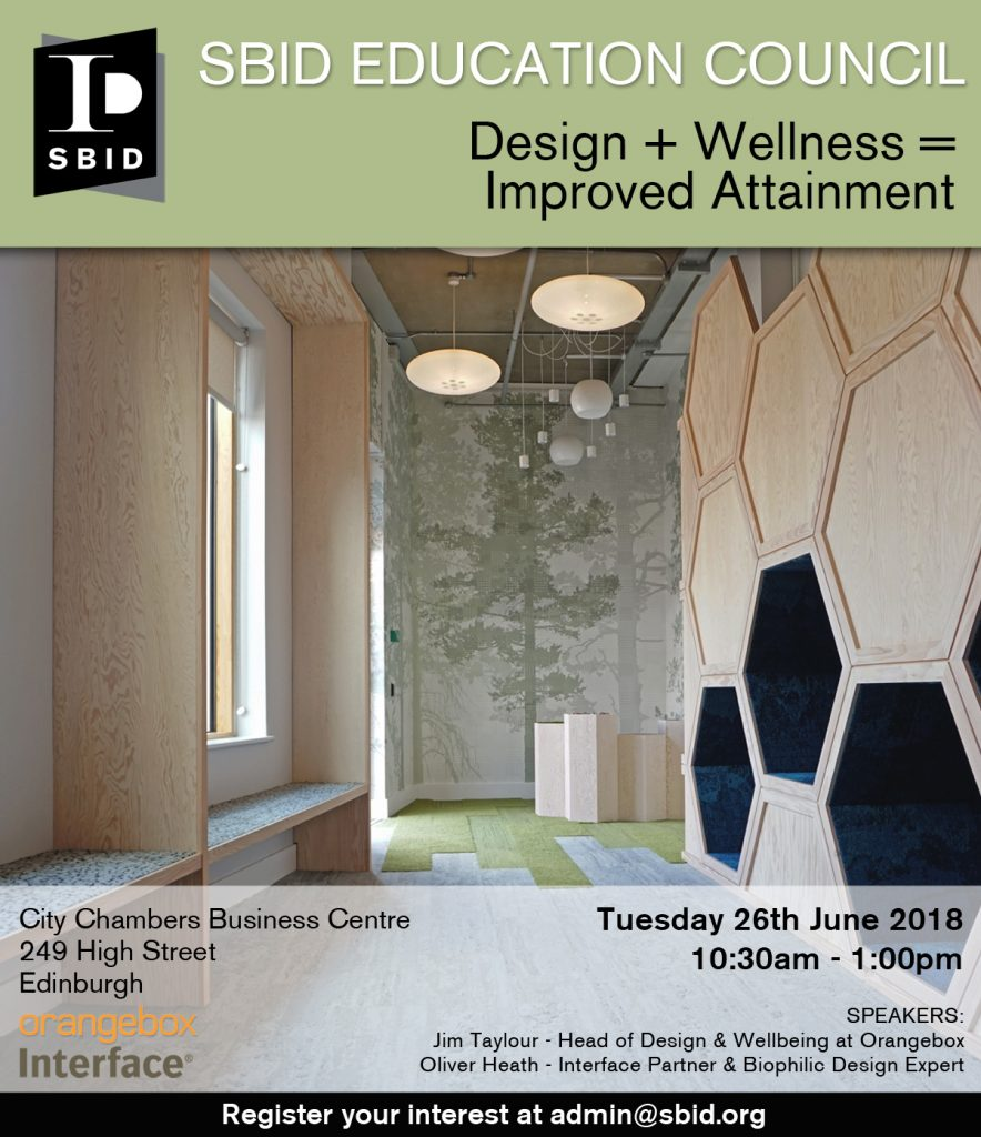 Design Wellness interior design event invitation