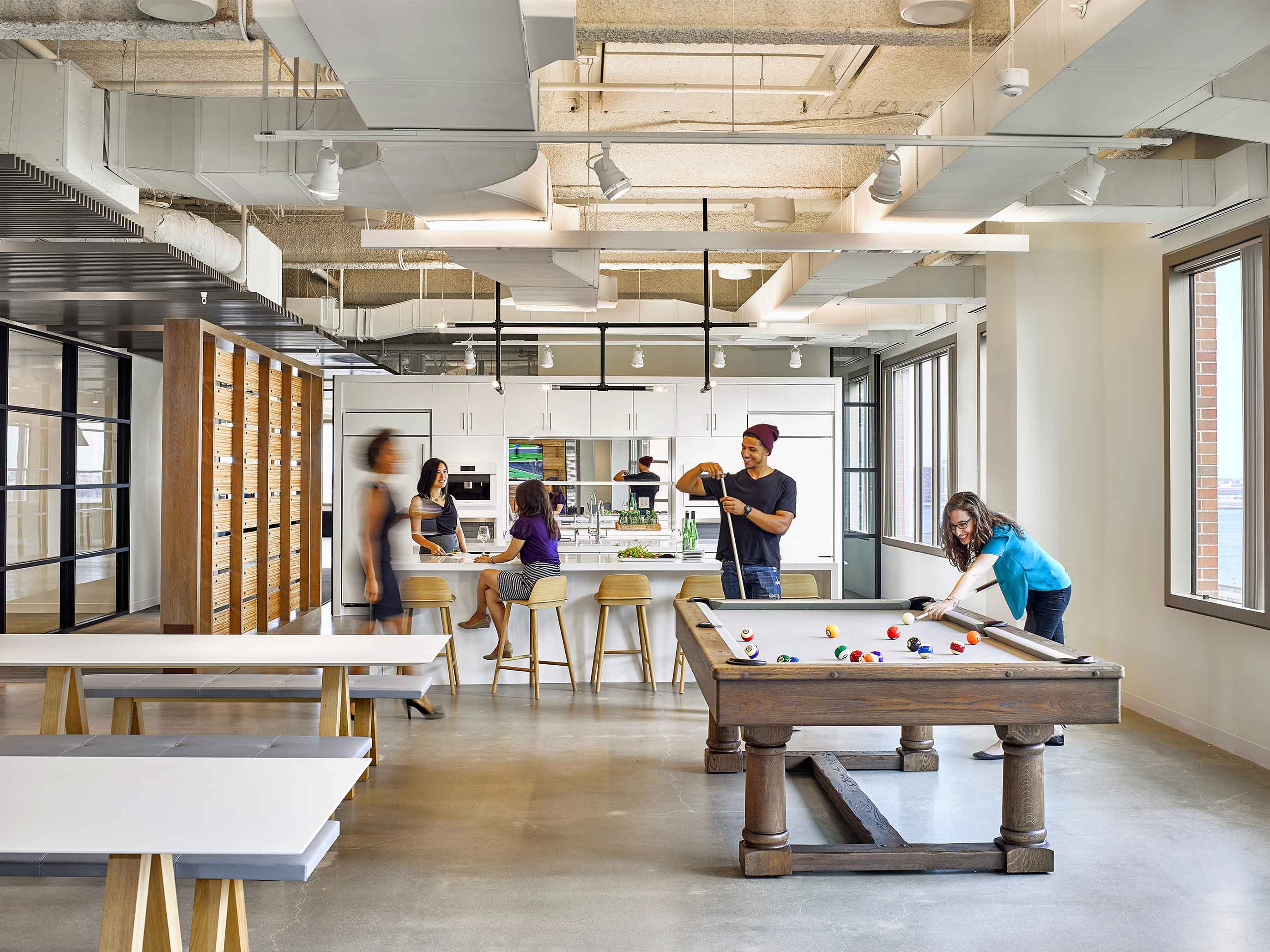 Elkus Manfredi Architects - Potamus Trading for employee wellbeing in interior wellness blog