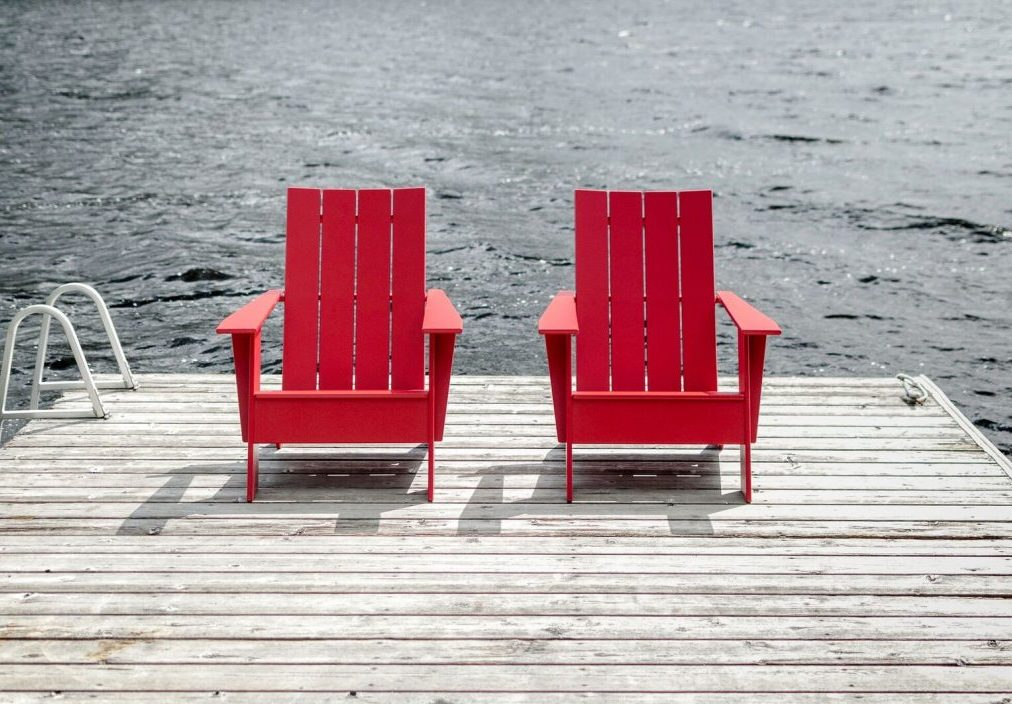 Loll Designs Adirondack chairs preview for interior design event, Clerkenwell Design Week