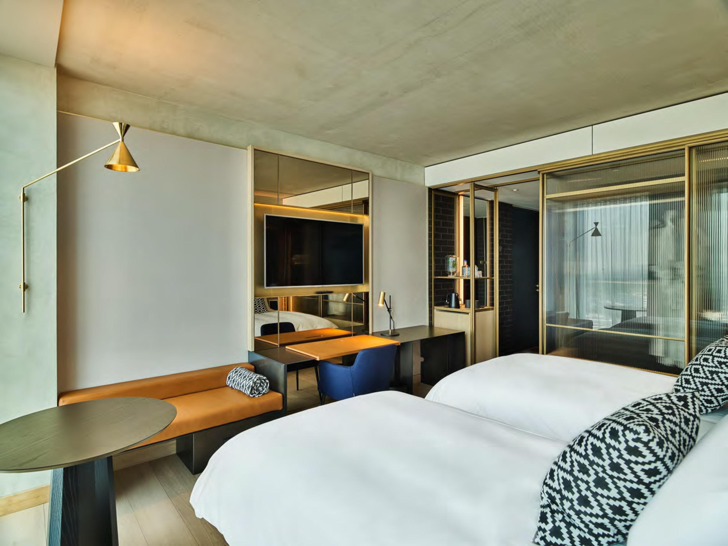 Interior design scheme for QO Amsterdam by Conran&Partners