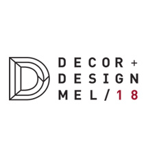 Decor + Design logo for interior and design events calendar
