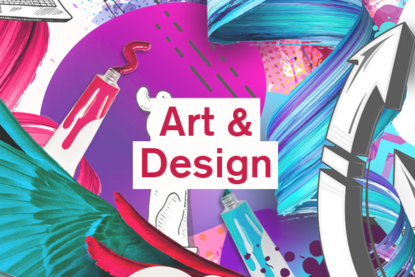 Art Category artwork for student design competition, Designed for Business