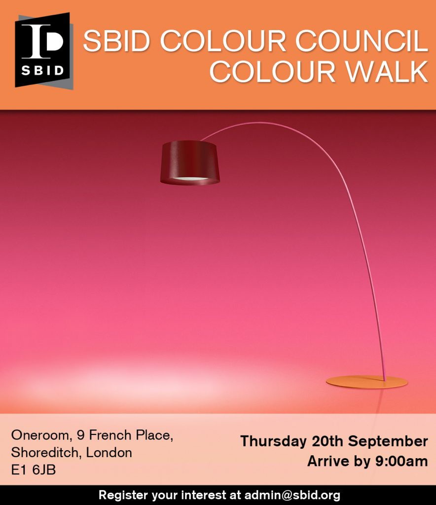 SBID Colour Council Colour Walk event invite for interior design events page