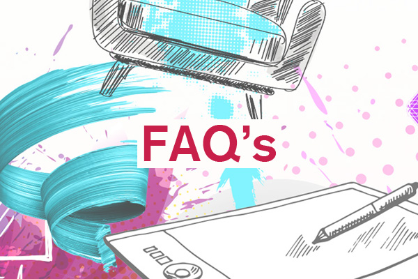 FAQ artwork for student design competition, Designed for Business