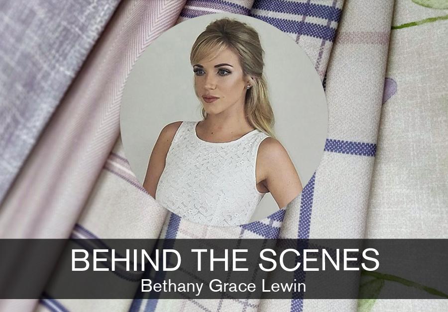 Beth Lewin, Textile Designer at Evans Textiles feature for SBID interior design blog, Behind the Scenes