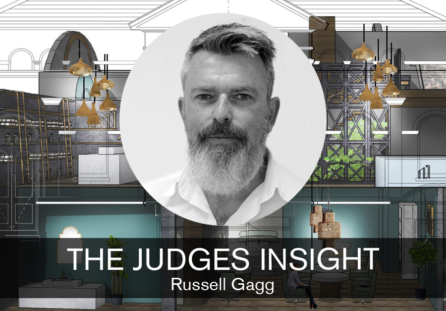 Russell Gagg, Course Leader at Arts University Bournemouth feature for SBID interior design blog, The Judges Insight, Designed for Business student design competition