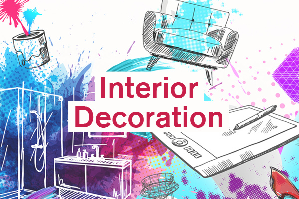 Interior Decoration Category artwork for student design competition, Designed for Business