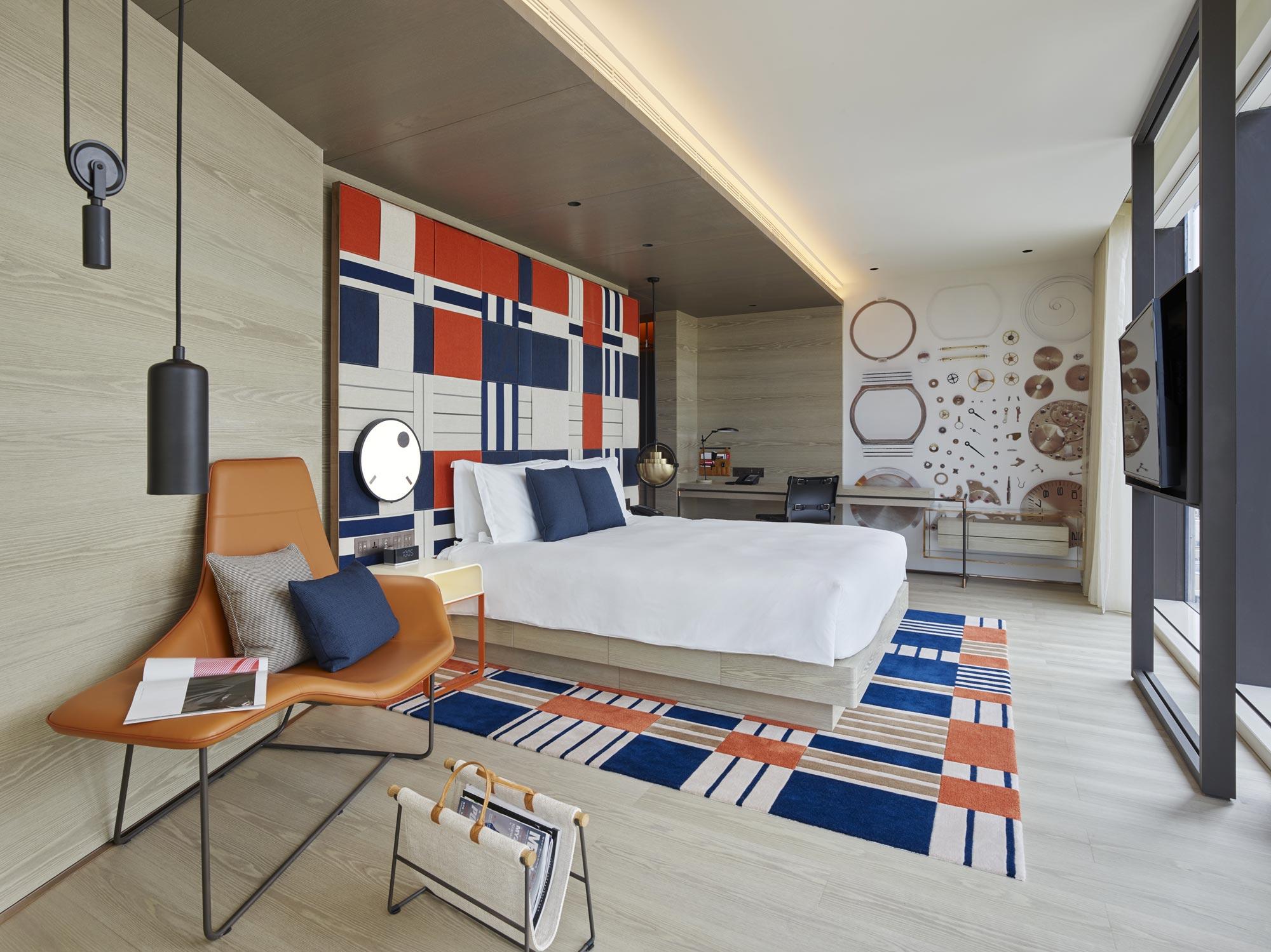 Hirsch Bedner Associates hotel design project images for SBID interior design blog, Project of the Week