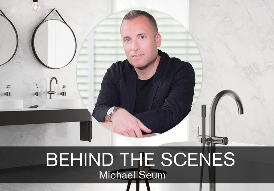 Michael Seum, VP Design for GROHE feature on SBID interior design blog, Behind the Scenes