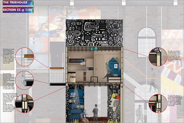 Student design project winner for the SBID student design competition, Designed for Business in the Interior Design category