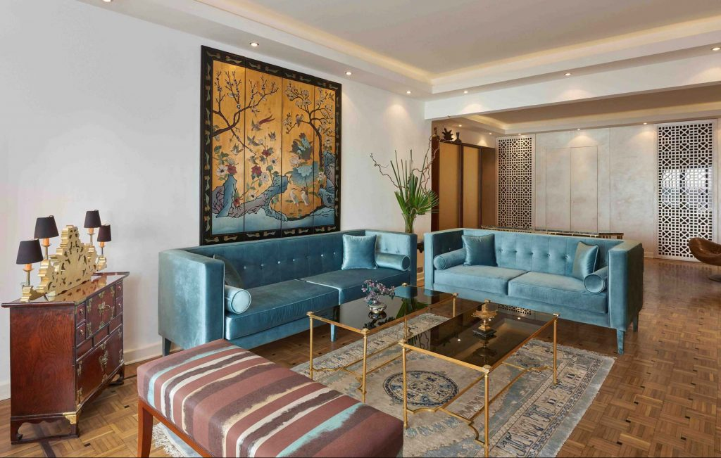 Nihal Zaki Interiors, Apartment by the Nile residential design project images for SBID interior design blog, Project of the Week
