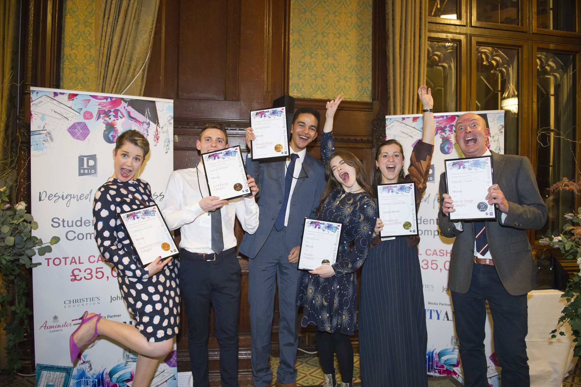 SBID student design competition Designed for Business Student Award winners