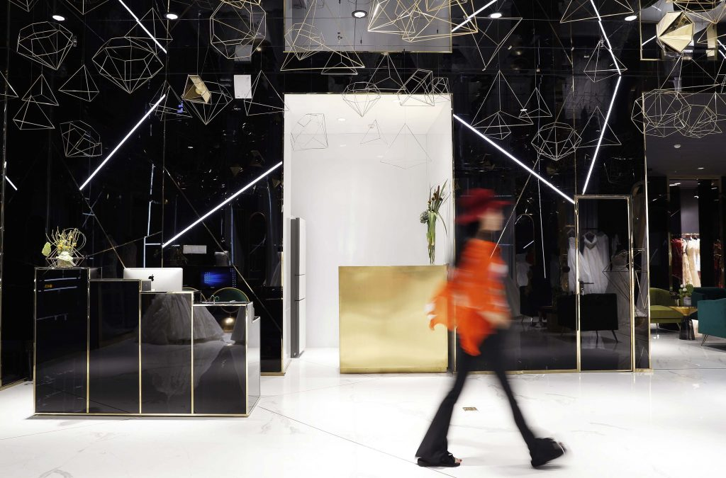 F Space Design, W.Dresses retail design project images for SBID interior design blog, Project of the Week