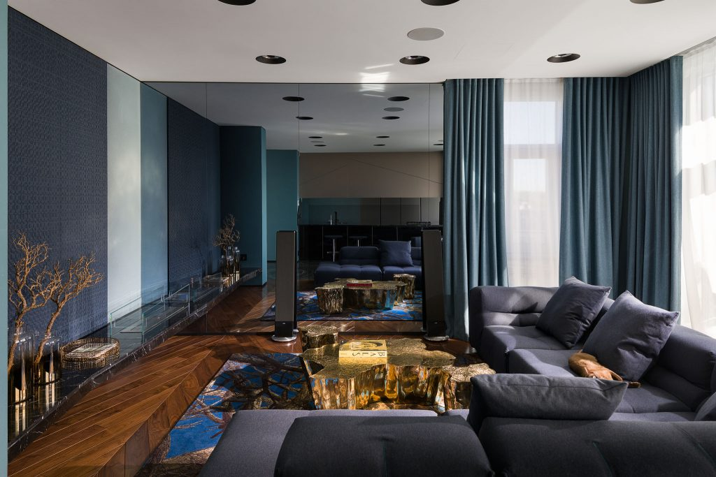 Residential interior design image by Design Studio of Yuriy Zimenko - Colour Blocking featured in Dr Vanessa Brady article on Fashion and Interiors