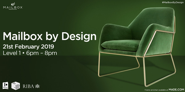Interior design event feature image for Mailbox by Design February 2019