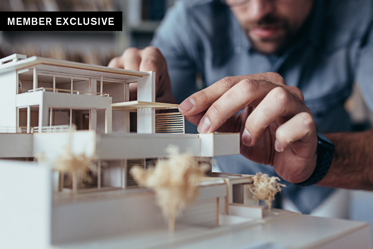 Architects visa image of Architect building model for SBID interior design blog with IAS offering Exceptional Talent Visa