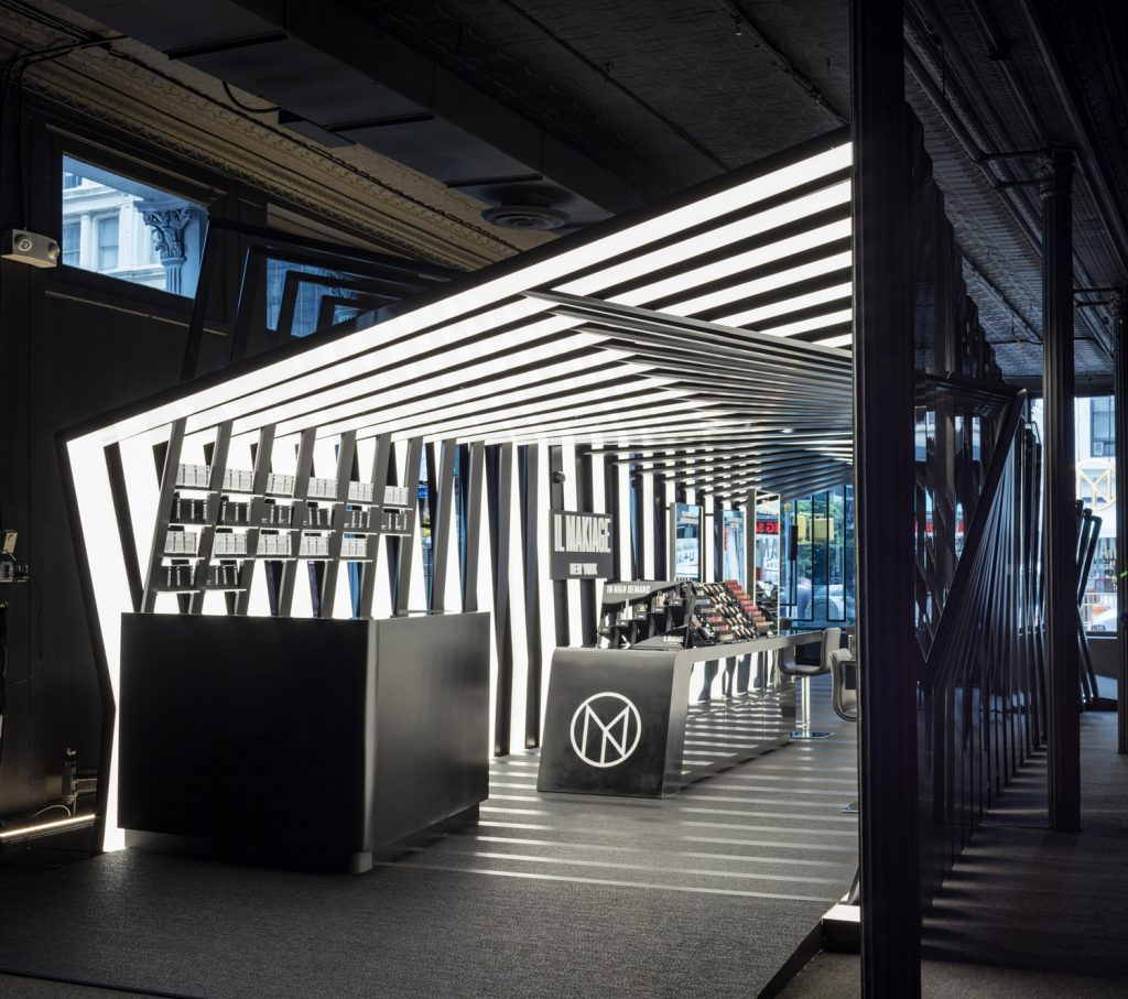 Zaha Hadid Architects, Il Makiage Pavilion retail design project images for SBID interior design blog, Project of the Week