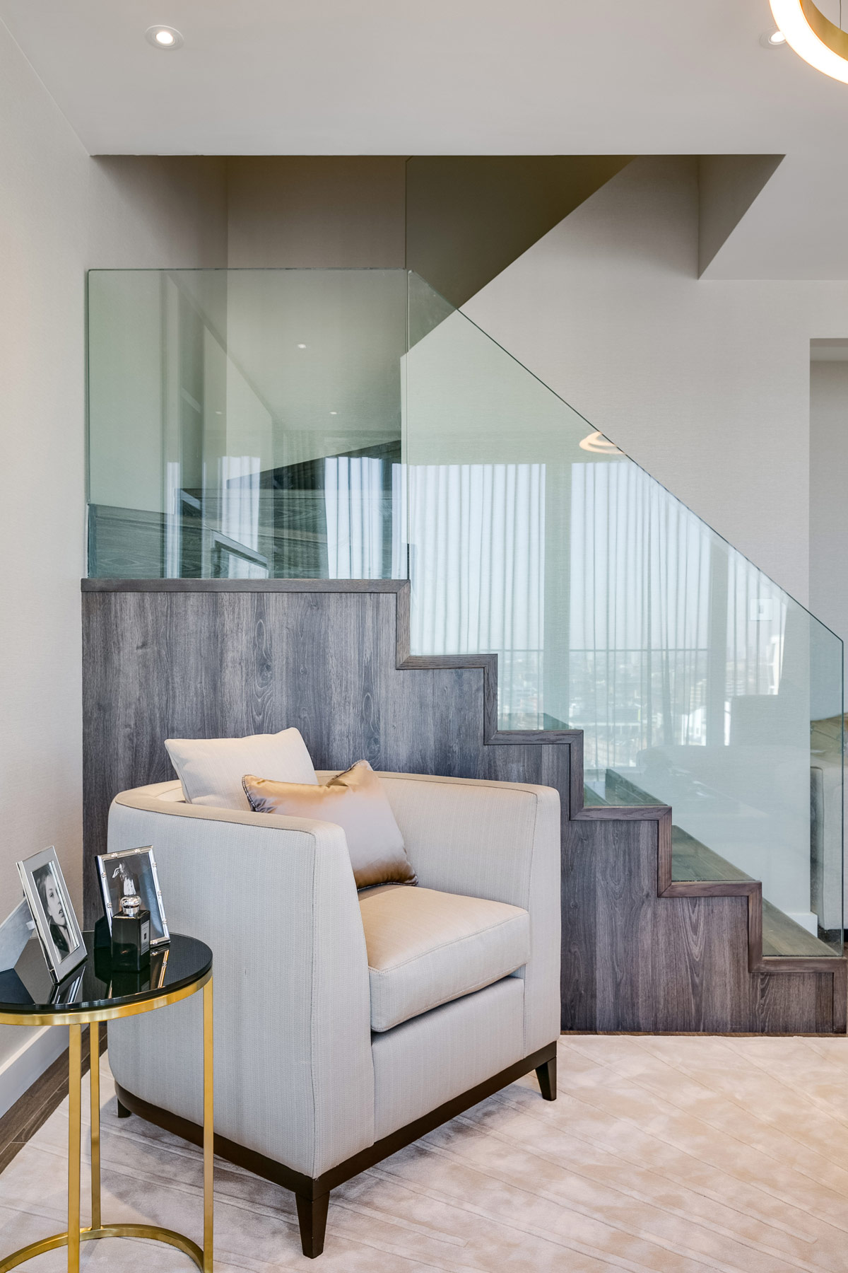 Onyx London, Duplex Apartment residential design project images for SBID interior design blog, Project of the Week