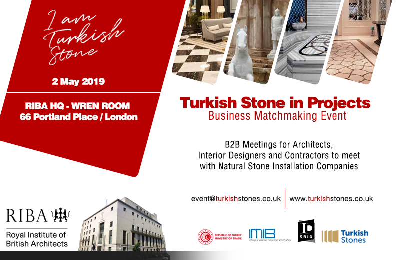 Turkish Stone event image for SBID interior design events blog post