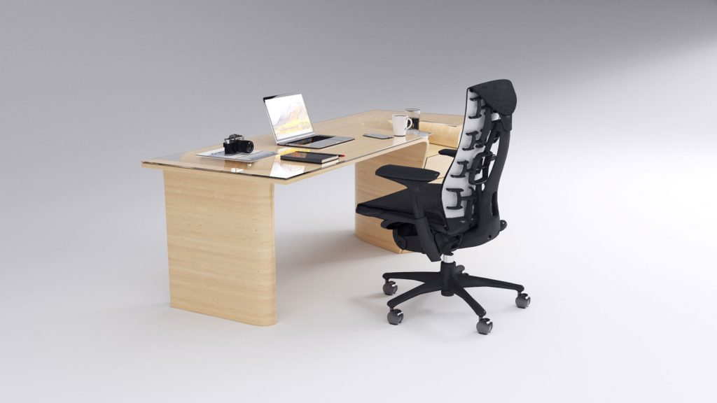 Product design office desk and chair