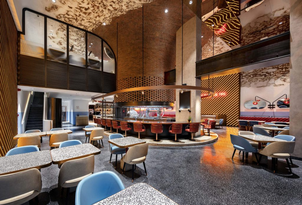 4Space, AtmosFire restaurant design project images for SBID interior design blog, Project of the Week