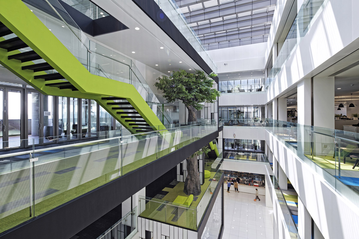 Sustainable Shanghai Gaming Office Embraces Employee Wellbeing