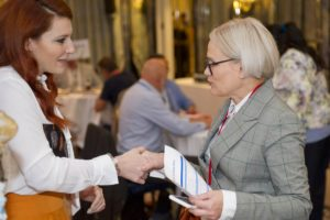 SBID Meet the Buyer event image of face to face networking with suppliers and designers