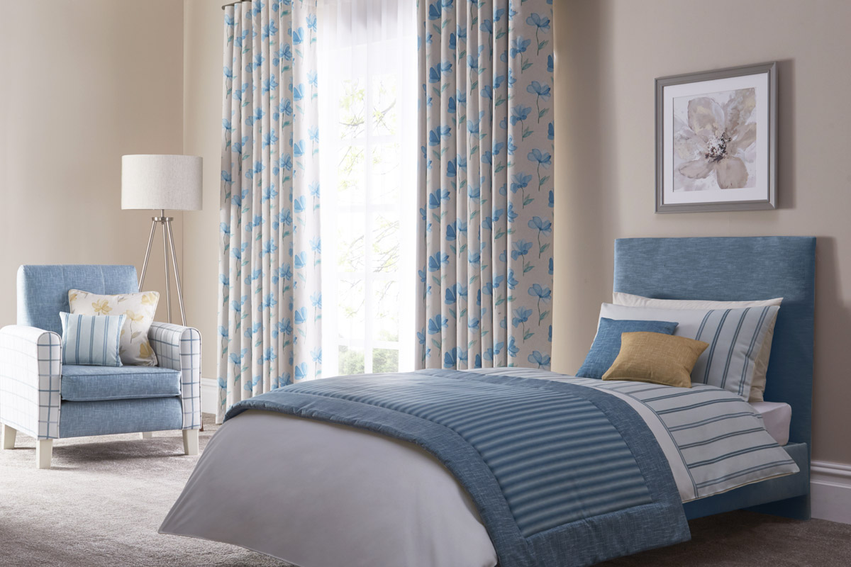 Bespoke fabric design blog by Bespoke by Evans featuring Evans Textiles bedroom scheme