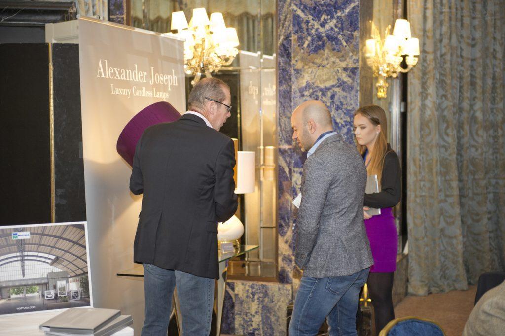Alexander Joseph display stand attending meet the buyer event