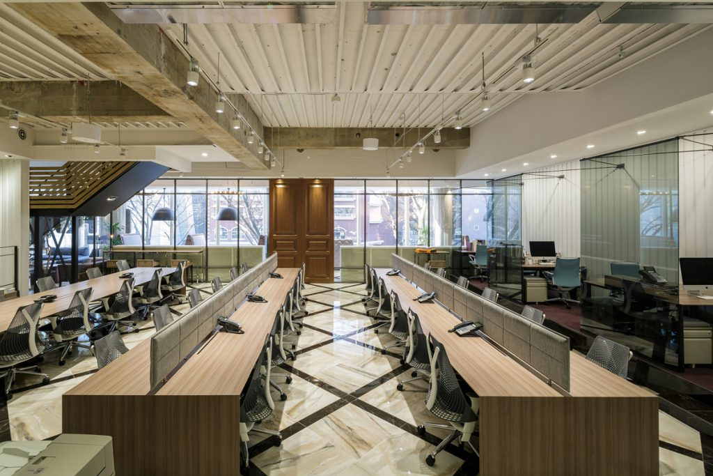 office design, Exploring Materials with an Office Designed to Inspire