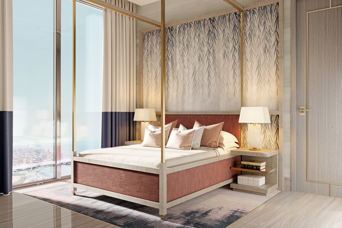 Residential bedroom design by Elicyon for Mumbai Development