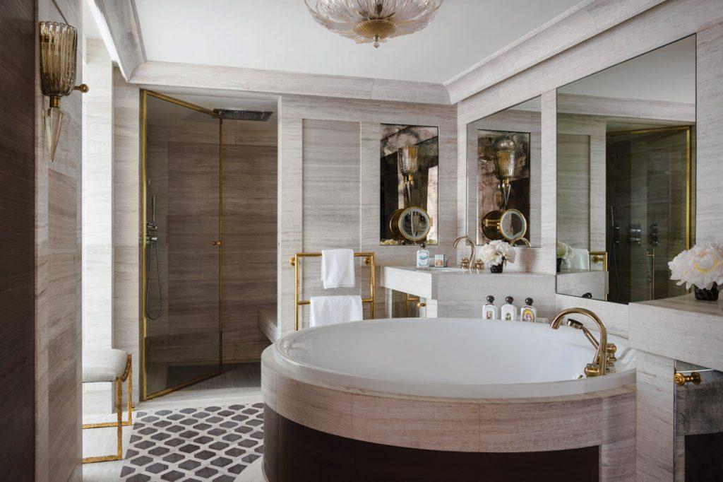 SBID Awards Sponsor THG Paris featuring luxury tapware in Hotel de Crillon bathroom