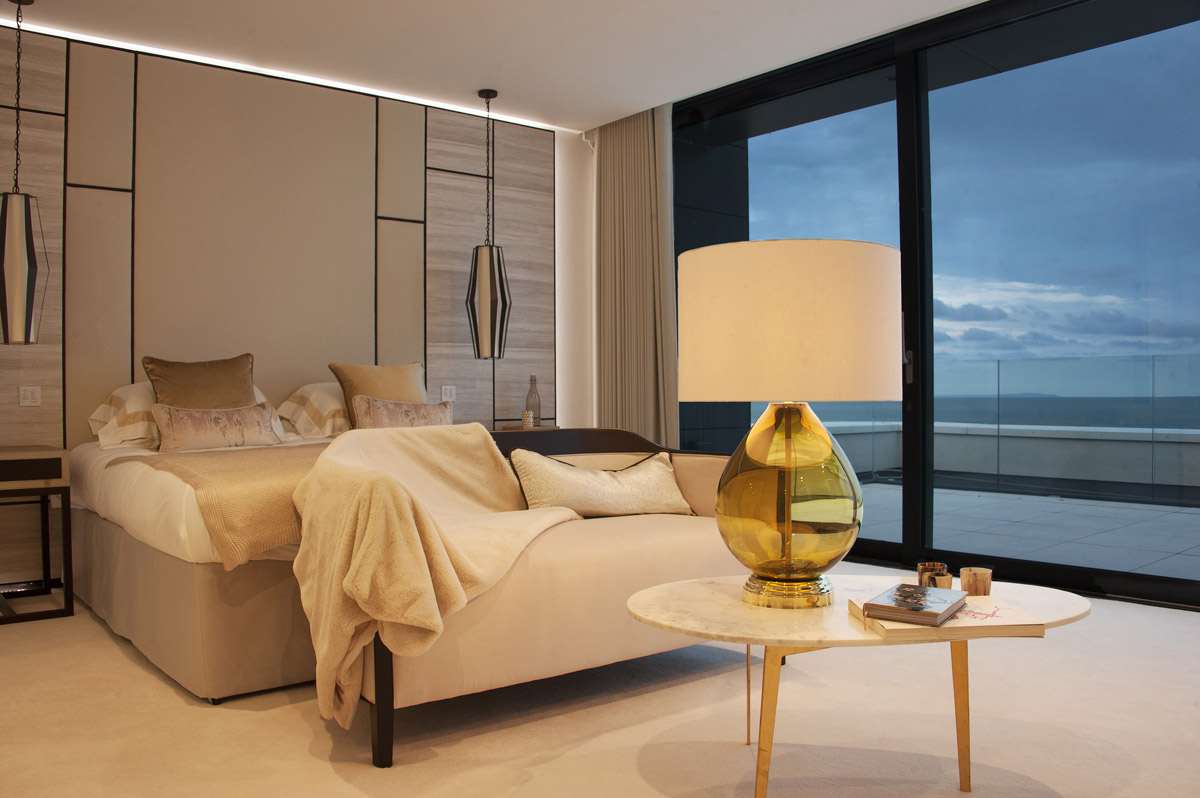 Alexander Joseph luxury lighting in an interior bedroom setting