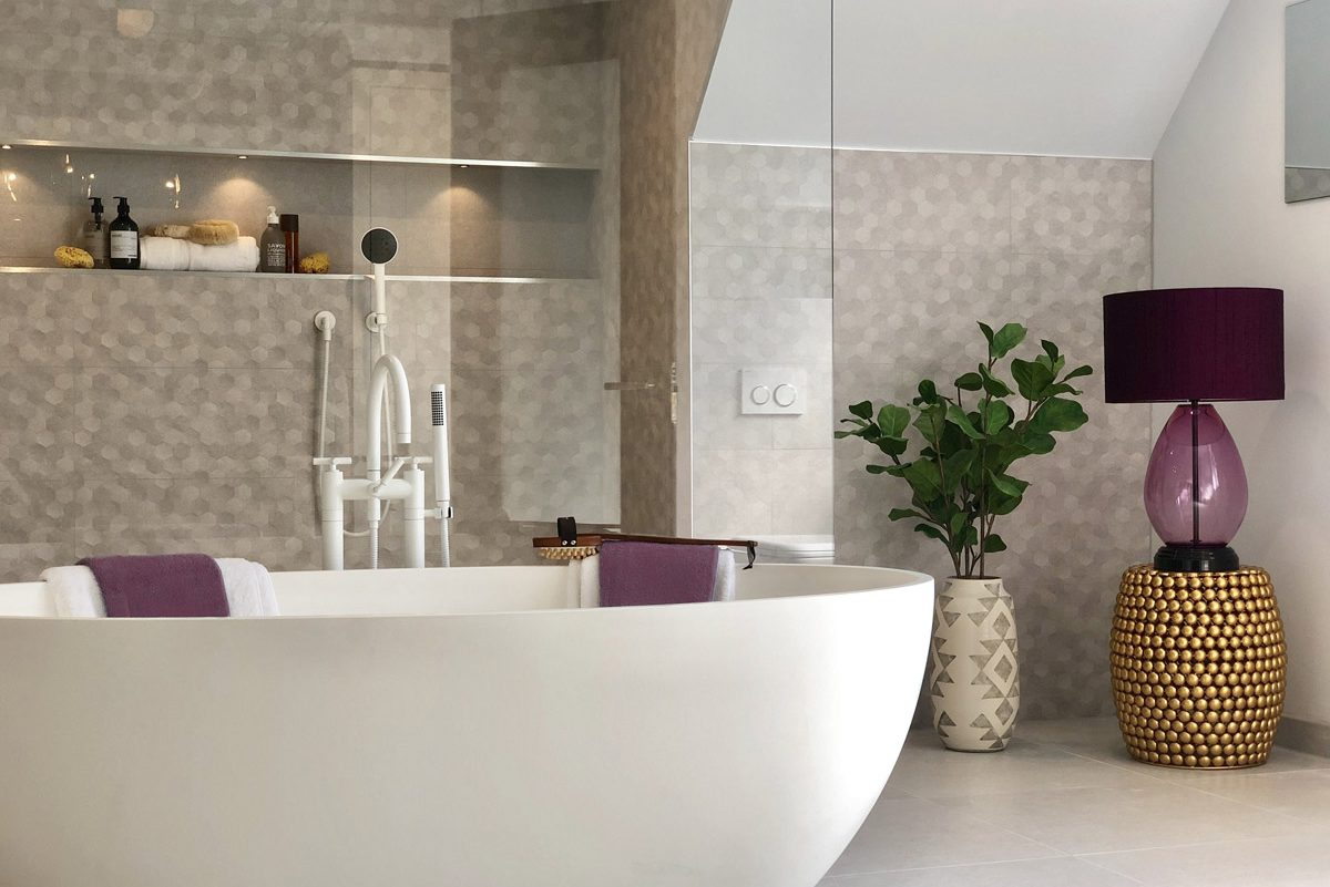 Alexander Joseph luxury lighting in an interior bathroom setting