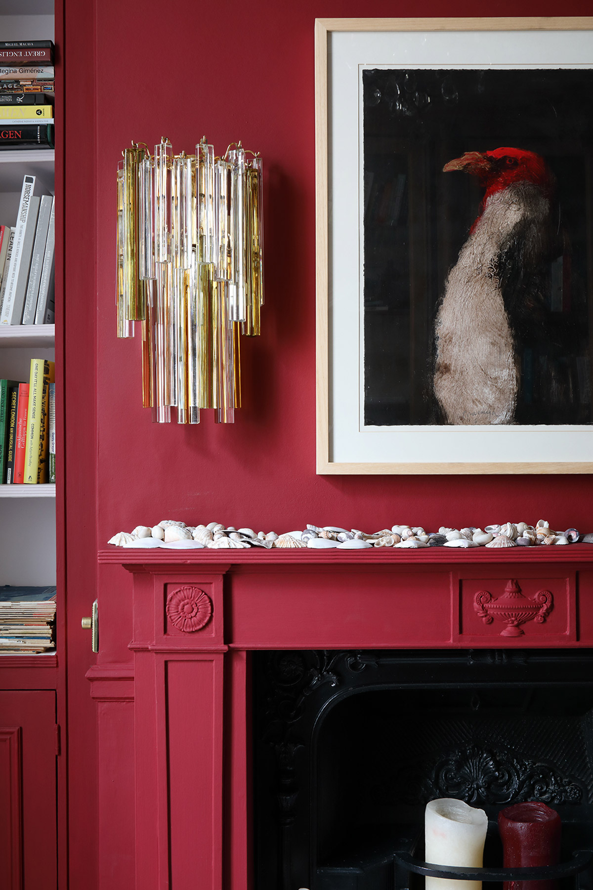 Interior designer, Ana Engelhorn project image of fireplace