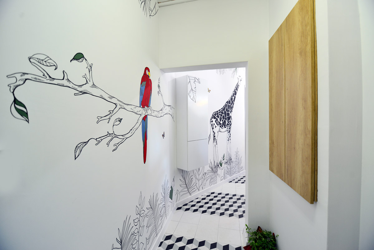 healthcare design, A Quirky, Halotherapy Salt Room with Artistic Vision