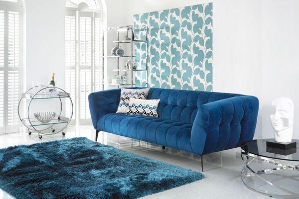 Product news featuring Fishpools' Vincenzo sofa in interior setting