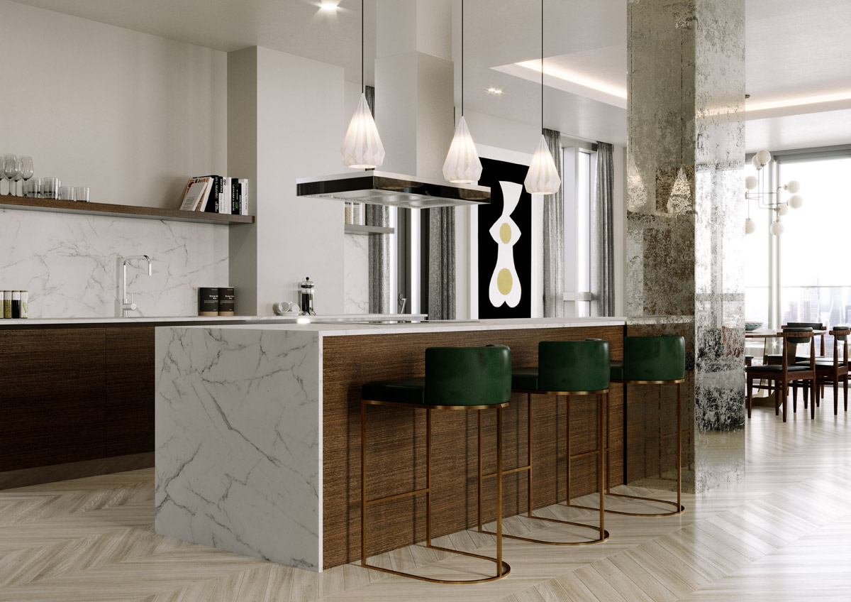 Cool, Art Deco Inspired Penthouse for East London Tech City
