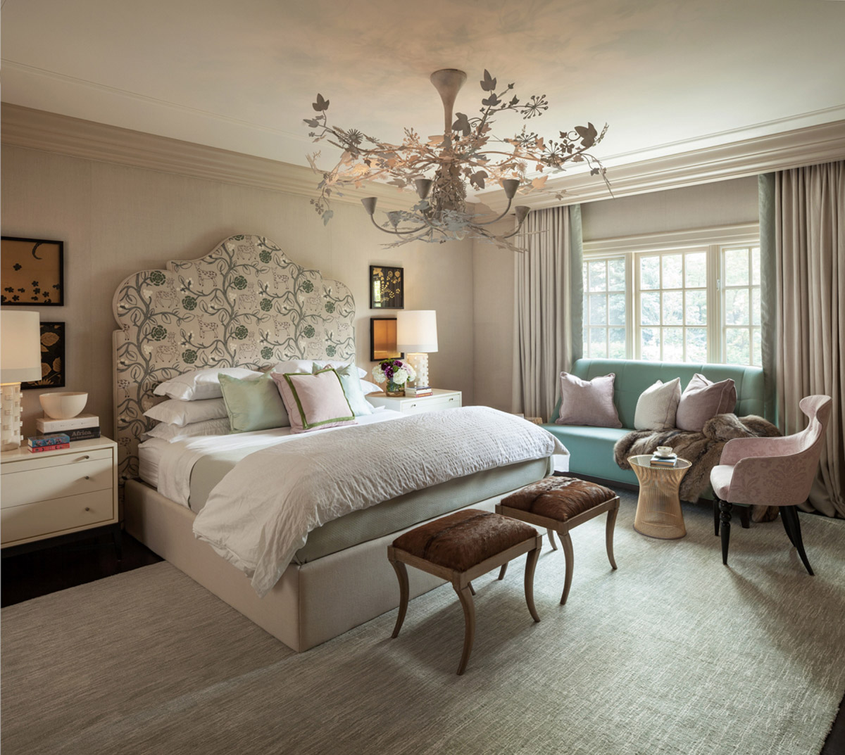 Residential design by Powell & Bonnell with bedroom interior for the Well Hued House