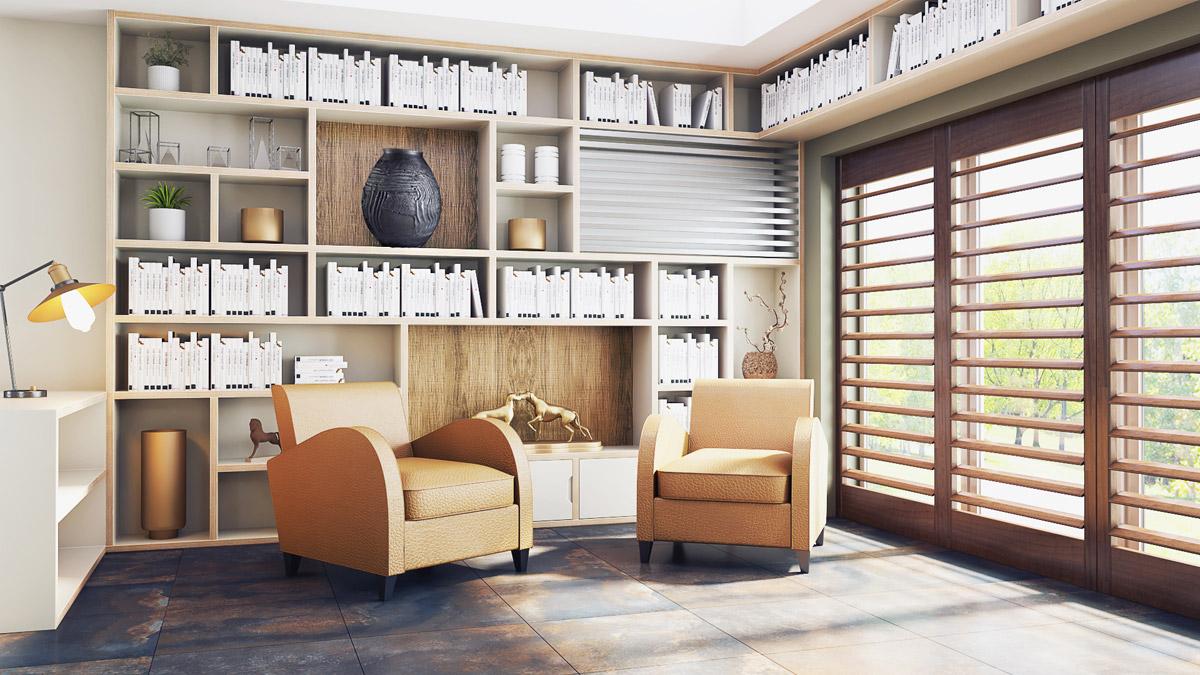 Interior design scheme for home office by interior designer Katie Malik