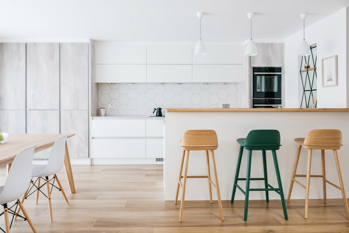 Kitchen design scheme by interior designer Katie Malik