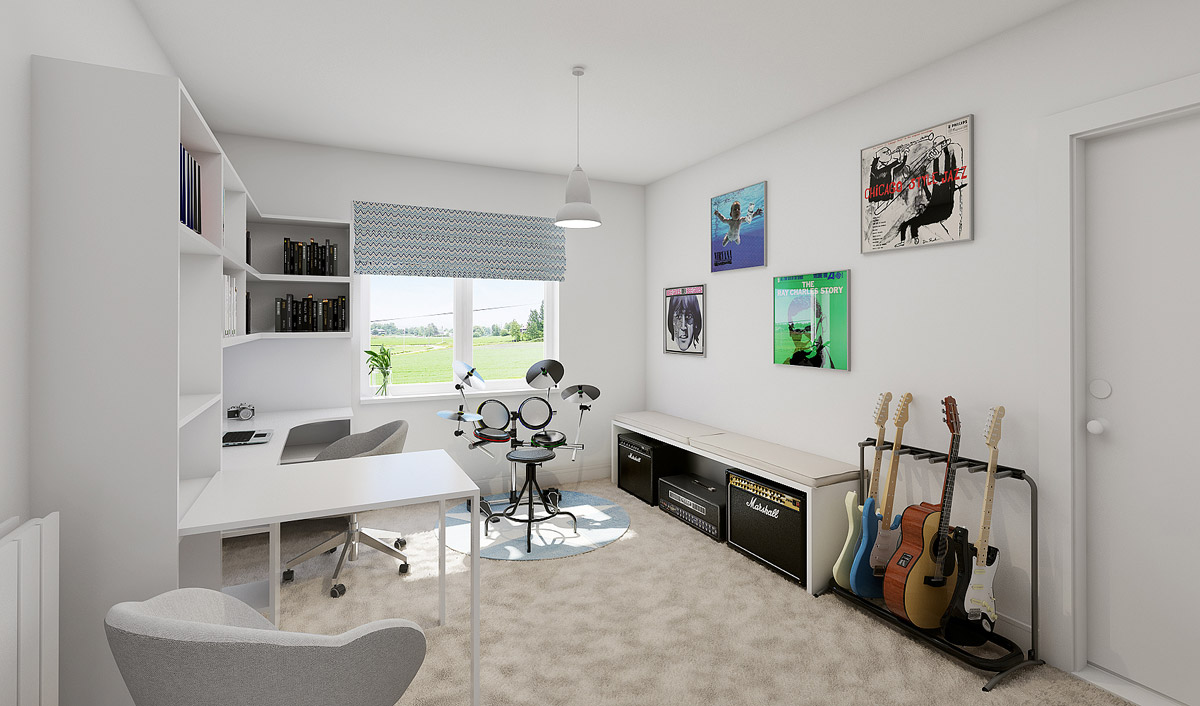 Katie Malik Interiors home study design for residential home