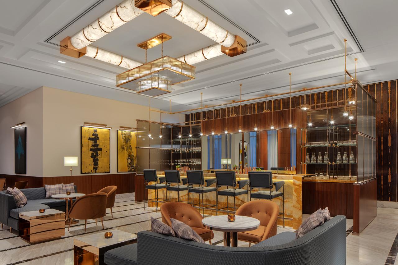 Mad Men Inspired Hotel Public Space Creates Impact